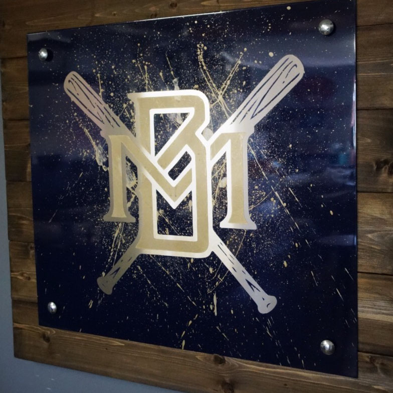 Brewers metal art