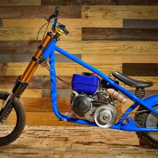 Custom chopper minibike