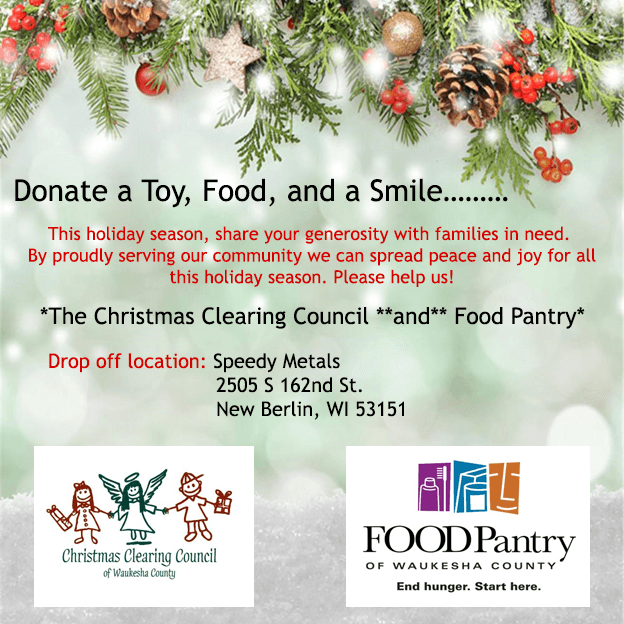 Donate to the Christmas Clearing Council or the Waukesha Food Pantry
