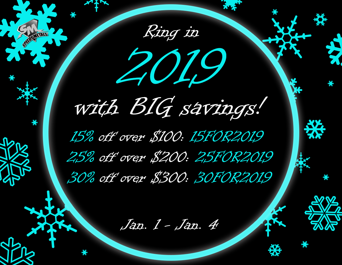 New Year's Sale 2019: January 1-4
