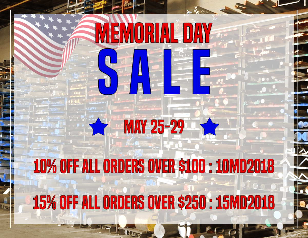 Save up to 15% off your online order in our Memorial Day Sale!