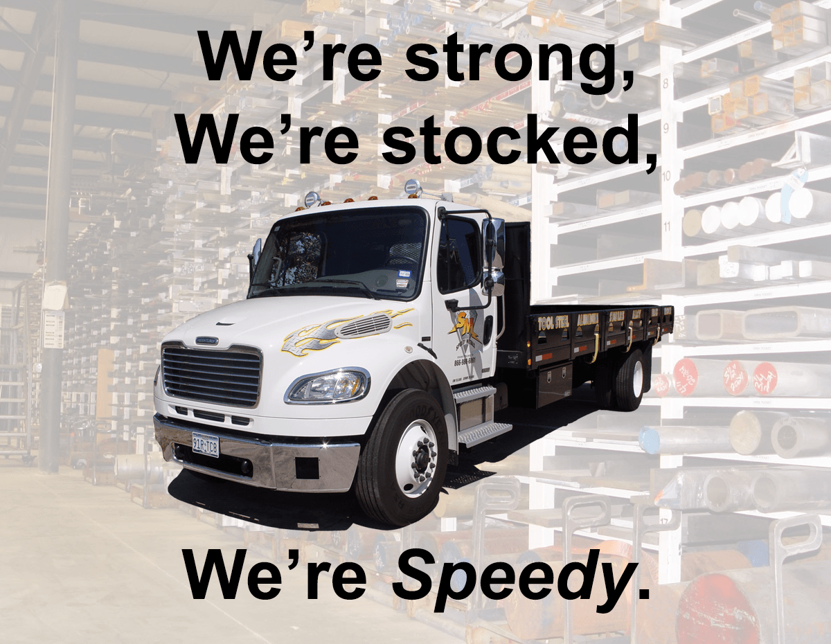 We're strong, we're stocked, we're Speedy.